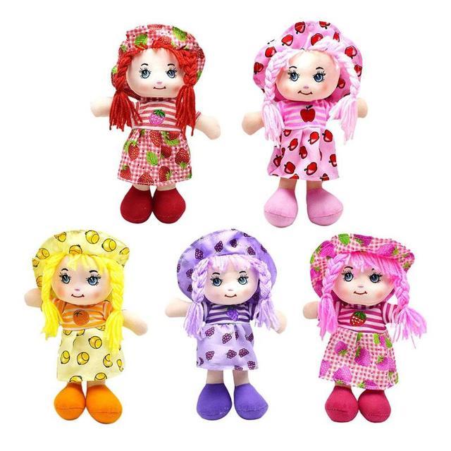 25cm Cartoon Kawaii owoce spódnica kapelusz szmata lalki miękkie słodkie tkaniny nadzienie zabawki dla dziecka udawaj zagraj dziewczyny prezenty na urodziny, boże narodzenie