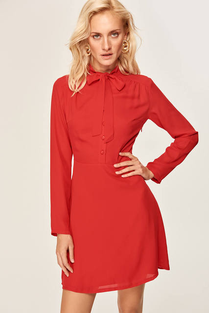 02a36b38cfa79 US $28.34 |Trendyol Red Dress linked TOFAW19XN0002-in Dresses from Women's  Clothing on Aliexpress.com | Alibaba Group