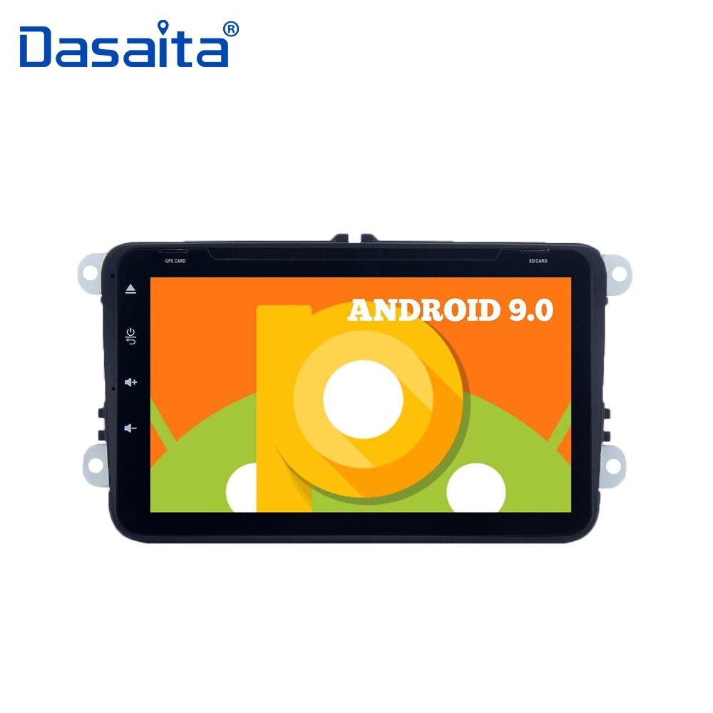 Lecteur Radio de voiture Android 9.0 GPS Navigator 2 din pour Altea Seat Leon Alhambra Toledo avec 8