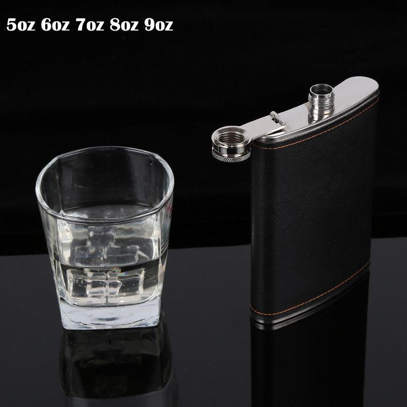 Silver 18oz Liquor Hip Flask Whiskey Alcohol Wine Flagon Bottle /& Leather Bag