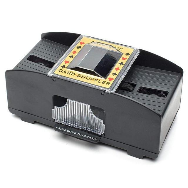 Placa de Jogo de Poker Jogando Cartas De Madeira Elétrica Máquina Baralhar Shuffler Casino Game Playing Card Poker Shuffler Automático
