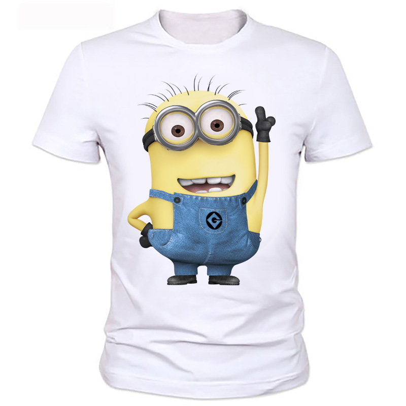 Summer Clothes Men Tshirt Despicable Minions T Shirt  Print Cartoon Cute Kawaii Character Funny T-shirts Tee Tops