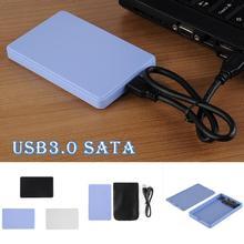 """2,"""" USB 3,0 SATA HDD Box 2 ТБ Жесткий драйвер USB внешний корпус чехол для хранения данных Передача SSD твердотельный накопитель"""