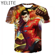 YELITE 2019 New Mobile Game Tshirt Lengends Printed T-shirt Charavters Printing T Shirt Summer Casual Funny Tops Tee