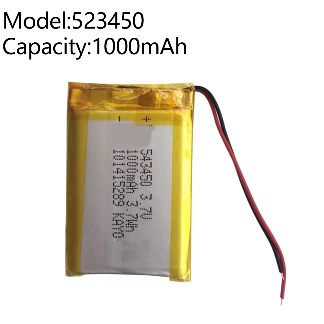 1000 MAh 3.7V Polymer Lithium Rechargeable Battery Li-ion Battery 503450 543450 523450 For Smart Phone DVD MP3 MP4 Led Lamp