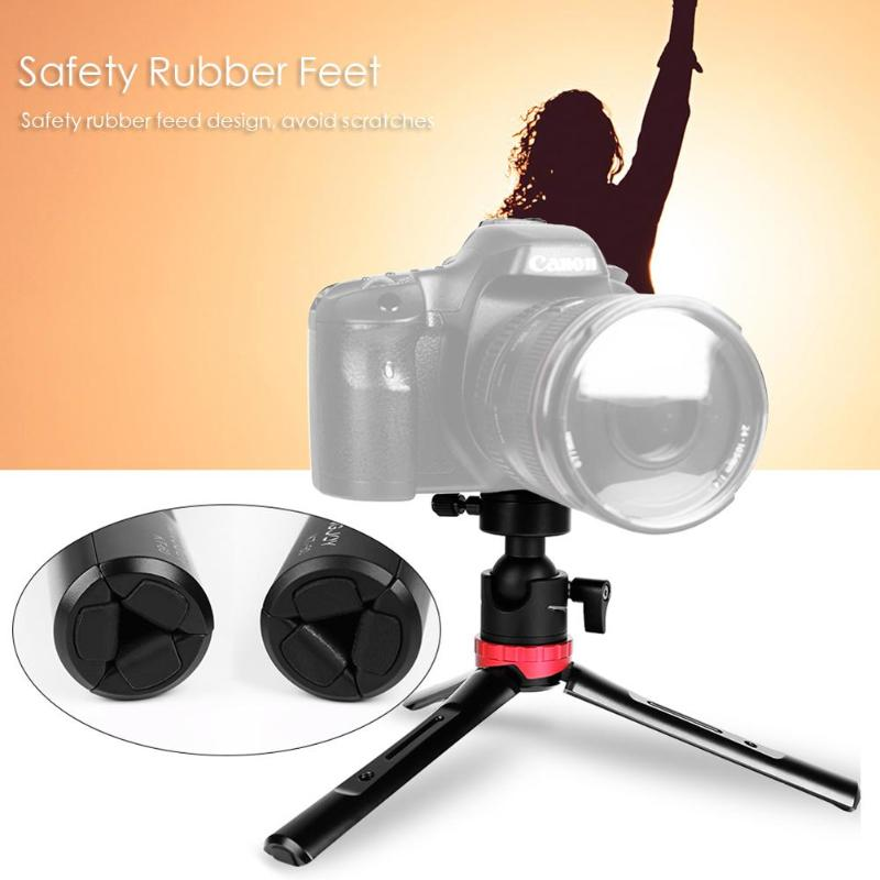 Kingjoy KT-60 Mini caméra trépied réglable Stable table trépied de bureau avec 360 degrés Ballhead Bear 3kg pour appareils photo DSLR - 3