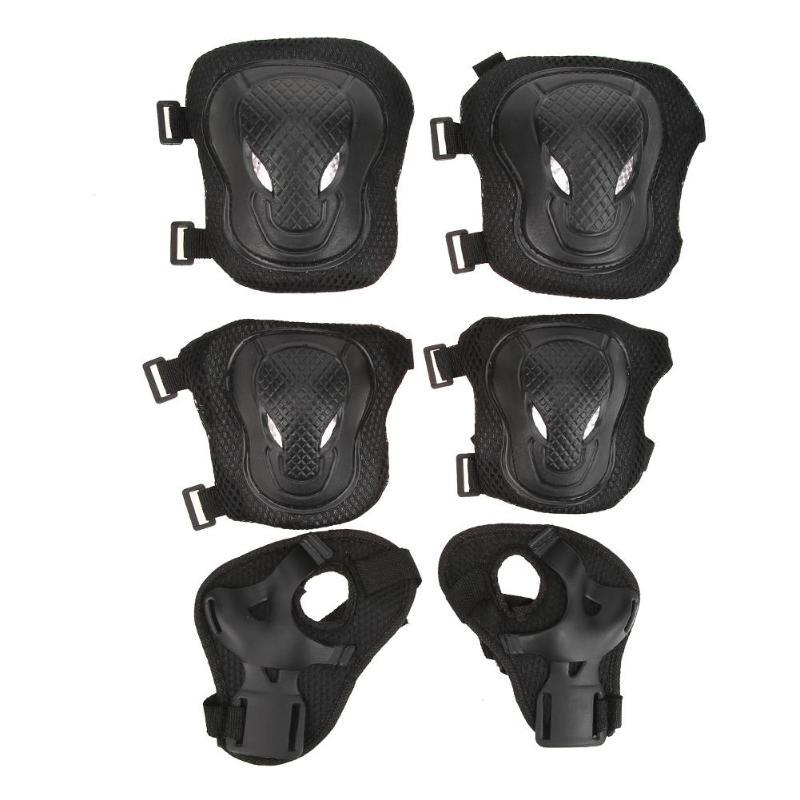 6 Teile/satz 14*14*7 Cm Erwachsene Radfahren Sport Sicherheit Gesetzt Knie Ellenbogen Pads Schutz Kneepads Schutz Für Roller Radfahren