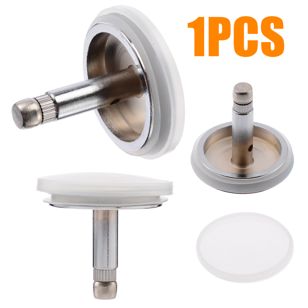 Stainless Drain Bathtub Basin Drain Stopper Waste Plug Filter Kitchen Sinks Drains Bathroom Sinks Faucets Accessories Silver