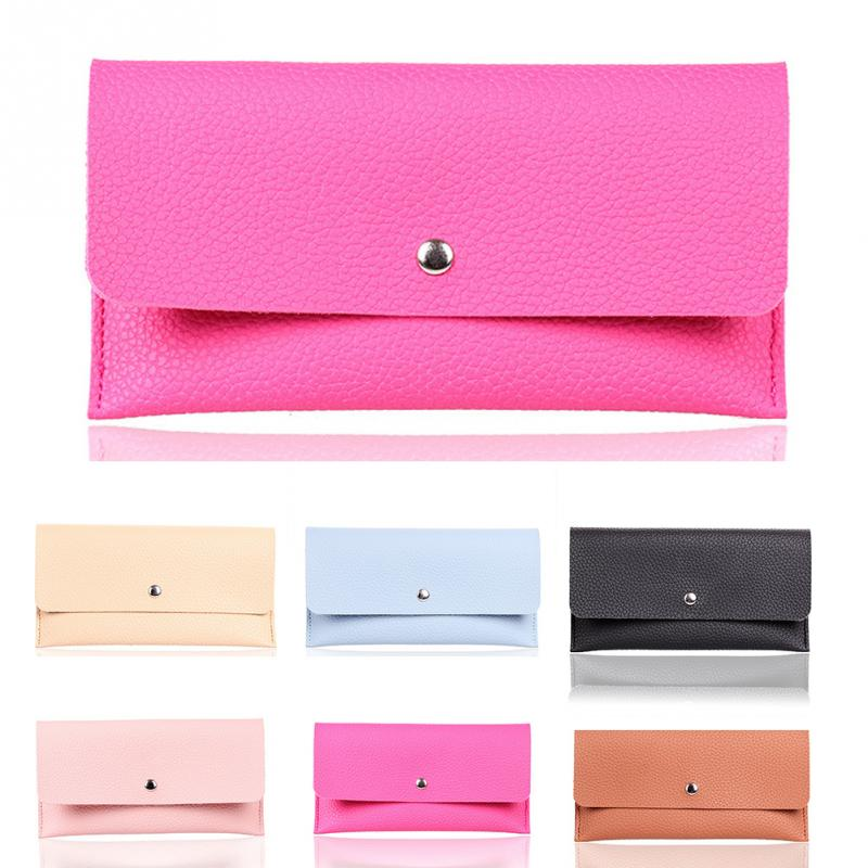Girl Wallet Slim PU Leather Wallet Women Clutch Bag Lady Phone Cards Holder Candy Color Small Handbag Purse Wallet 6