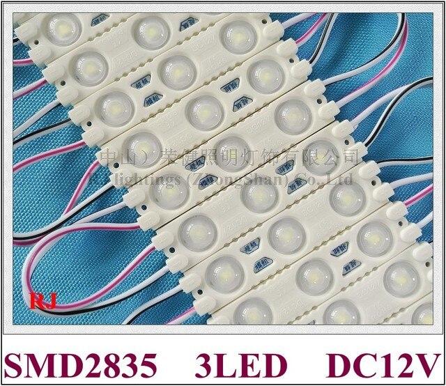 HA CONDOTTO il modulo iniezione DC12V 1.2W 3 LED 150lm 60 millimetri * 13 millimetri di alluminio PCB super HA CONDOTTO il modulo luce per il segno 3 anni di garanzia di alta luminoso
