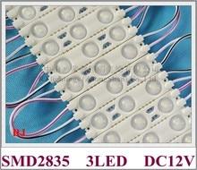 LED module injection DC12V 1.2W 3 led 150lm 60mm*13mm aluminum PCB super LED module light for sign 3 year warranty high bright