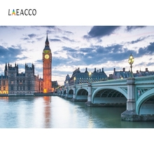 Laeacco London Big Ben Clock Backdrop Photography Backgrounds Customized Photographic Backdrops For Photo Studio