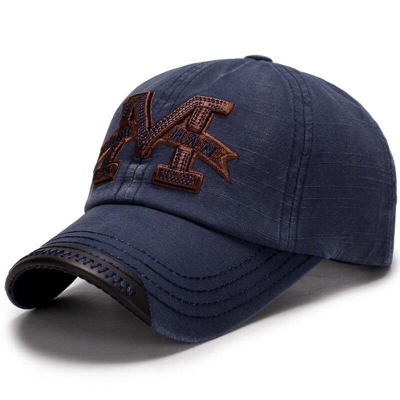 100% Washed Denim   Baseball     Cap   Snapback Hats Autumn Summer Hat For Men Women   Caps   Casquette Hats Letter Embroidery Gorras