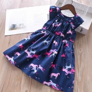 Image 4 - Doğum günü elbise kızlar parti elbise bebek frocks çiçek yaz okulu pamuk çocuk giyim kız giyim çocuk kıyafeti