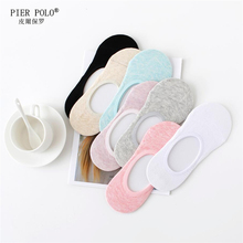 PIER POLO Socks women Harajuku Breathable Comfort Boat Non-Slip Invisible Low Cut Four Seasons Meia Calcetines Hombre