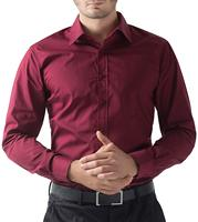 Men Dark Red Work Office Long Sleeve Men Dress Shirt Plus Size 5XL Non Iron Male Easy Care Formal Tops Oversized Business Shirts