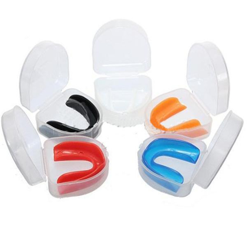 Silicone Mouth Guard Teeth Dental Protection Anit Snore- Stop Night Teeth Grinding Anti Snore Sleeping With 1 Box Random Color29
