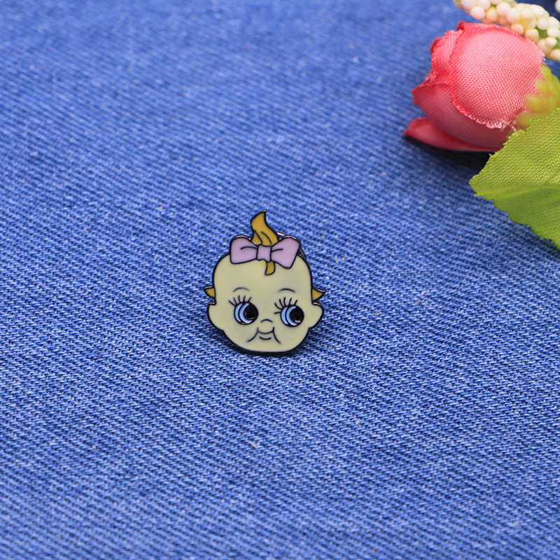Cartoon Funny Brooches Bow Tie Baby Enamel Pin For Girls Lapel Pin Hat/bag Pins Denim Jacket Shirt Women Brooch Badge Sc4213 Apparel Sewing & Fabric