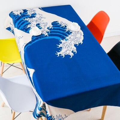 Style japonais montagne Fuji Fujisan nappe linge nappes couverture serviette épaisse rectangulaire antependium salle à manger décoration