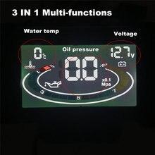 Автомобильный вольтметр с ЖК дисплеем и датчиком температуры