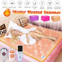Electric Blanket 3/9 gear/Intelligent timing Control Water Heated Flannel Blanket Household Heater with Water inlet 80*180cm