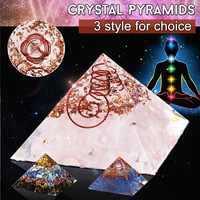 Aura Crystal 65mm Orgone Energy Converter Orgonite Pyramid Soothe The Soul Stone That Change The Magnetic Field Of Life Resin