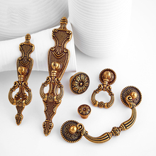 Antique Bronze Zinc Alloy Kitchen Drawer Cabinet Door Handle Furniture Knobs Hardware Cupboard Pull Handles