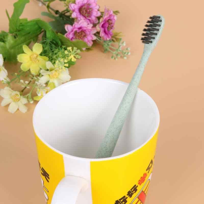 1 шт. дорожная зубная щетка для здоровья портативная пшеничная соломенная ручка Solf бамбуковая зубная щетка с держателем цилиндра
