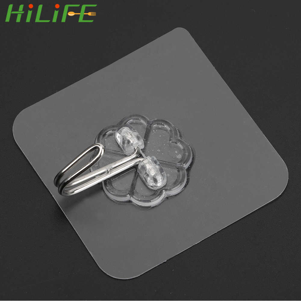 HILIFE 6*6 سنتيمتر شفافة شفط كأس جدار السنانير قوية لاصق شماعات الاشياء المعلقة تخزين الشماعات للحمام المطبخ