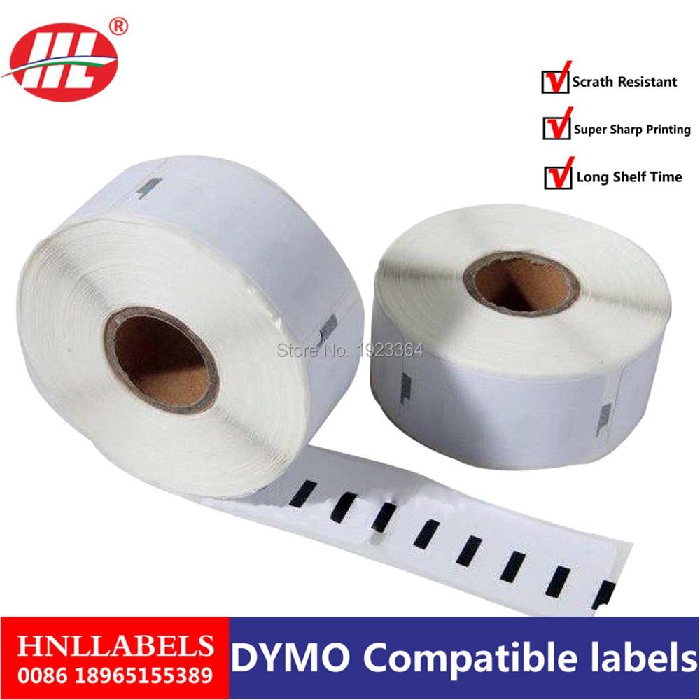 10X Rolls Dymo Compatible Labels 11355 1355 51 X 19mm 500 Labels Per Roll Etiquetas Sticker Multi Purpose Label