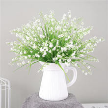 White Fake Flower Artificial Plastic Flowers for Wedding Christmas Home Accessories Decor Room High Quality