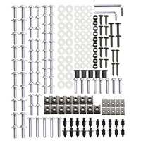 225Pcs Motorcycle Fairing Screws Set Windshield Screws Body Bolts Fastener Kits Nuts & Bolts Auto Replacement Parts