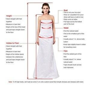Image 5 - ハイエンド白羽イブニングドレスとクリスタルビーズ足首の長さのフォーマルパーティードレスウエディングドレス