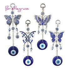 Турецкие Синие стразы от сглаза, бабочки, амулеты, талисманы на удачу, подвеска на стену, подарок для защиты от благословения