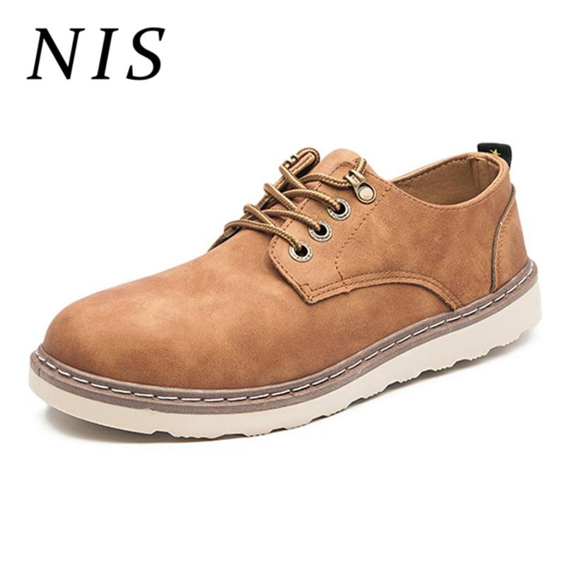 NIS Retro Faux   Suede     Leather   Men Flats Oxfords Office Business Work Casual Driving Sport Shoes Men Autumn Zapatillas Hombre New