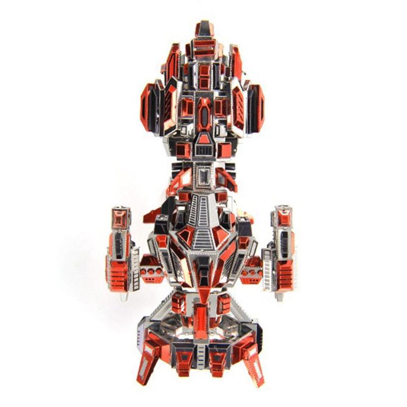 3D bricolage métal Puzzle Flaming vaisseau spatial modèle Laser coupe assemblage Puzzle jouets adultes enfants Collection éducative assembler jouet modèle