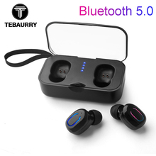 2019 T18S Invisible Bluetooth Earphones 5.0 TWS Mini Wireless Earbuds Stereo Deep Bass Headset with charging box Portable цены