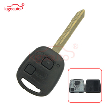 Kigoauto Remote key 2 button 304mhz 4C chip for Toyota Yaris With TOY47 Uncut Blade dandkey 2 buttons remote key fob shell uncut blade key case replacement cover for toyota yaris with rubber pad