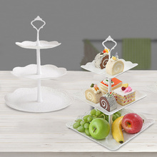 3 Tiers Fruit Tray Dessert Tower Beautiful and Stylish Cake Stand For Wedding Party Sturdy and Stable Dessert Plates