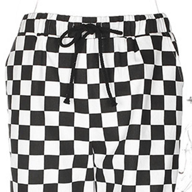 Harajuku Imprimer De Survêtement Gothique Noir Chaude Décontractés Printemps Hippie Pantalon Femmes Streetwear Pantalons Plaid Joggeurs Lâche Blanc TqzwYnHxX