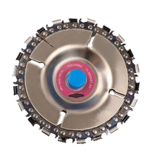 4 Inch Grinding Chain Plate Woodworking Carving Disc For 100/115mm Grinder Power Tool Saw