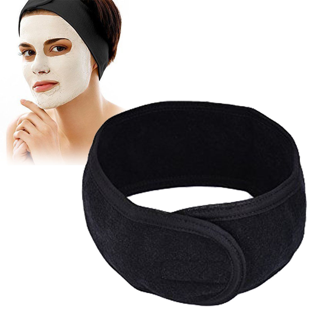 Women Spa Bath Shower Wash Face Elastic Head Turban Ladies Cosmetic Yoga Headband Cloth Towel Bandana Make Up Tiara Hair Band