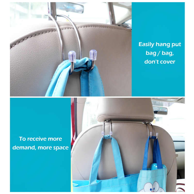 1X Нержавеющая сталь металлические зажимы автомобильный крюк автомобильный интерьер автомобиля подголовник сумка ткань для хранения фиксации Авто продукты аксессуар