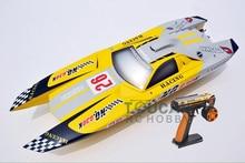 G30K ARTR RC Fiberglass Gasoline RC Racing boat 30CC Engine RadioSys Servos Yellow
