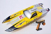 G30K ARTR-RC Fiberglass Gasoline RC Racing boat 30CC Engine RadioSys Servos Yellow