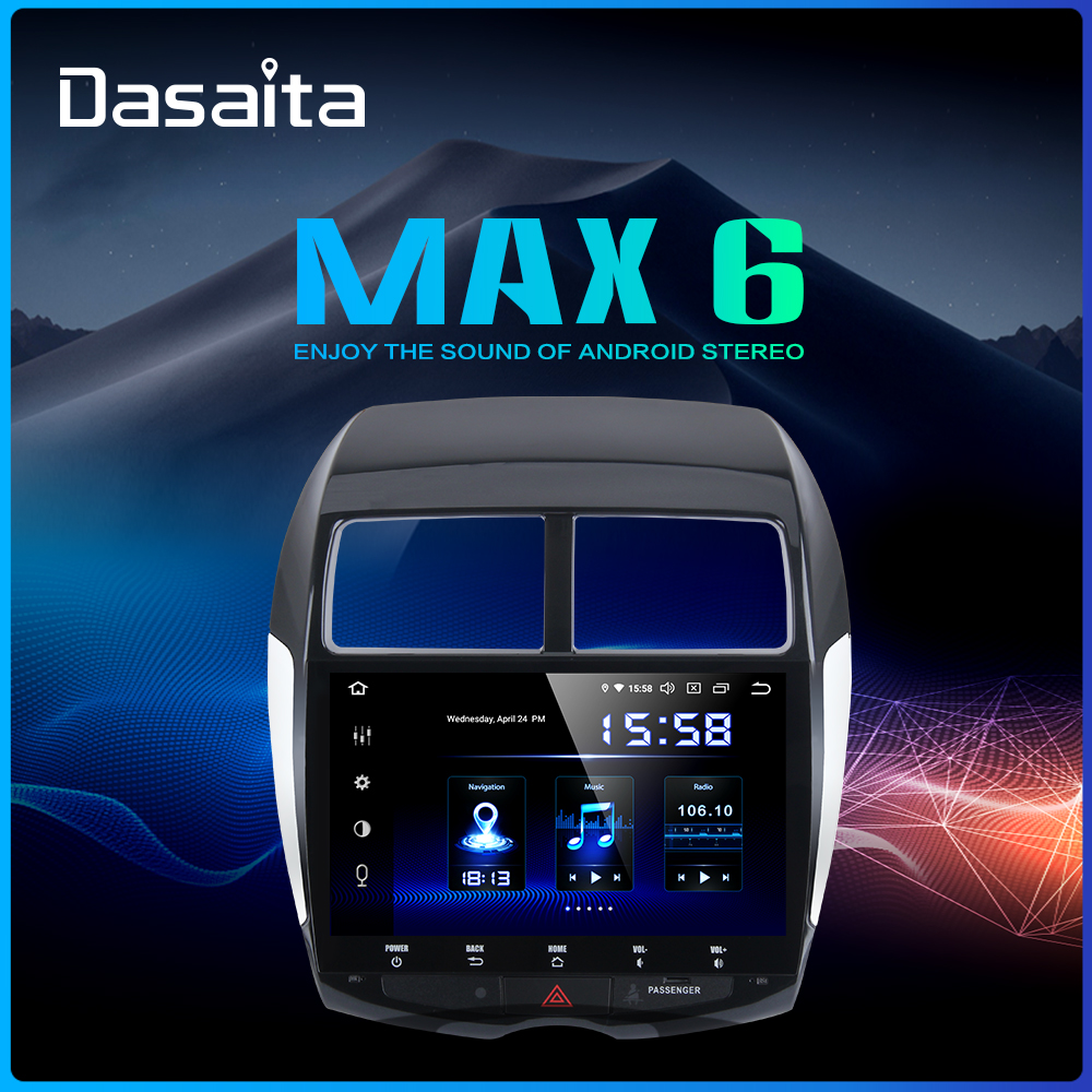 Dasaita 1din Android 9.0 Car Stereo for Mitsubishi ASX Peugeot 4008 Citroen C4 Air Cross Multi Touch Screen radio MP3 USB-in Car Multimedia Player from Automobiles & Motorcycles    1