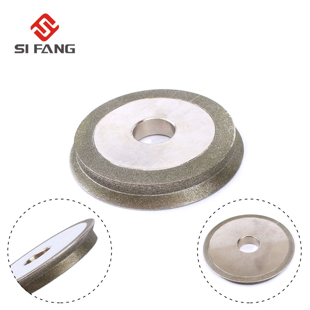 3Inch(80mm) Electroplated Diamond Cutter Grinding Polishing Wheel Wheel For Carbide Tools Sharpening Cutter Tool 1/2'' Bore Dia
