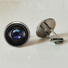 Camera lens cufflinks glass business shirt handmade personality pictures private custom