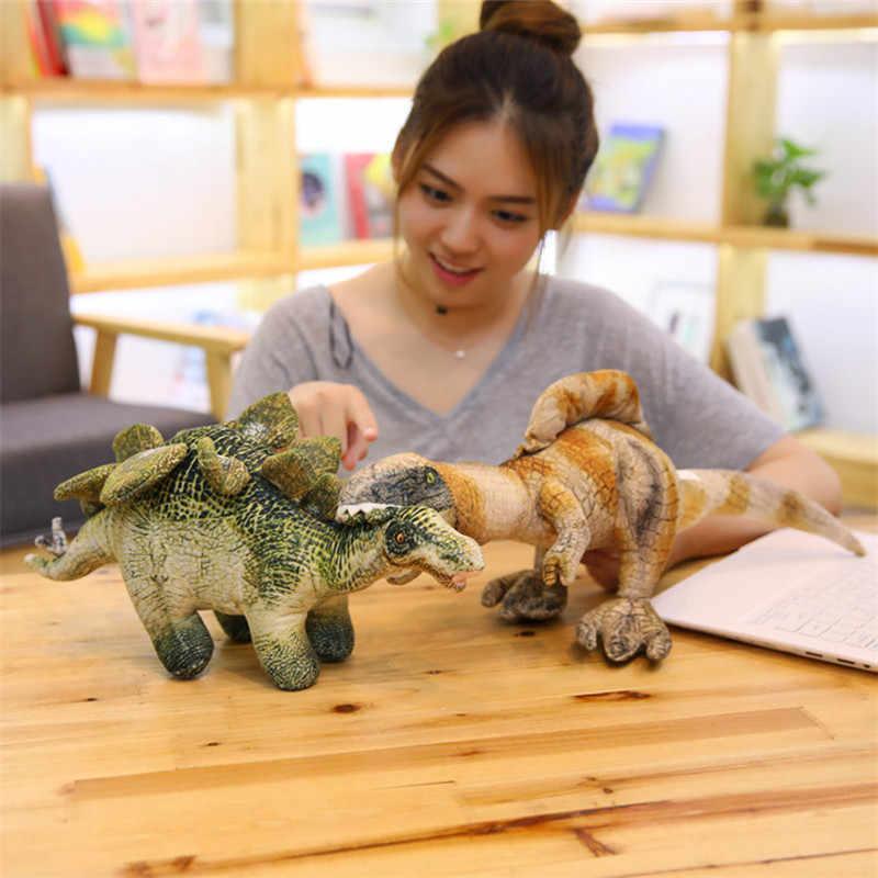 5 estilos Simulação Almofadas Dos Desenhos Animados Tiranossauro Dinossauro de Brinquedo de Pelúcia Macia de Pelúcia Boneca Brinquedos para Meninos Presente de Aniversário para Crianças