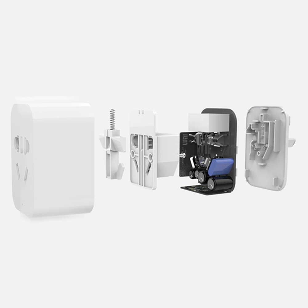 Оригинальная умная розетка Xiaomi Zigbee, Wi-Fi приложение, дистанционное управление, таймер, розетка питания, разъем питания, обнаружение работы с шлюзом